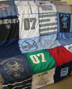 Custom Keepsake Memory Tshirt Rag Quilt 20 shirts by FrayedFuzzies, $80.00