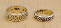 Custom Made Celtic Wedding Rings made in the Scottish Highlands