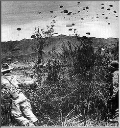 The French government had committed 10,000 troops, with reinforcements totaling nearly 16,000 men. The garrison of Dien Bien Phu consisted of French regular troops (notably elite paratroop units plus artillery), Foreign Legion units, Algerian and Moroccan tirailleurs, and locally recruited Indochinese infantry. All the French troops were commanded by General Christian de Castries and General Pierre Langlais.