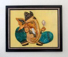 Ganesh Wall Art terracotta ganesh wall plate | lord ganesha stuff | pinterest