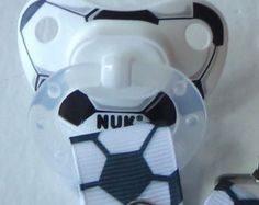 Check out our soccer selection for the very best in unique or custom, handmade pieces from our shops. Nuk Pacifier, Binky, Soccer Baby, Baby Boy, Soccer Uniforms, Baby Journal, Photography Classes, Sport Girl, Grosgrain Ribbon