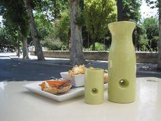 Sake and tapas?  Ceramic 3D printed sake cup and flask