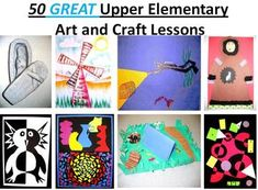 50 GREAT Upper Elementary Art and Craft Lessons --- pinning this for the pos/neg penguin in the bottom left corner!