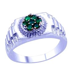 99 cents Mens Genuine Emerald Ring .75 carats Size 11  http://stores.ebay.com/JEWELRY-AND-GIFTS-BY-ALICE-AND-ANN