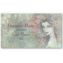 Elegant and Unique Cosmetologist Makeup Artist Business Card Template