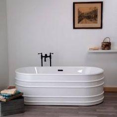 Strom Plumbing Meredith 66 Inch Acrylic Double Ended Freestanding Tub - No Faucet Drillings Zen Bathroom, Modern Master Bathroom, White Bathroom, Bathroom Faucets, Bathroom Storage, Small Bathroom, Master Bathrooms, Bathroom Ideas, Bathroom Shelves