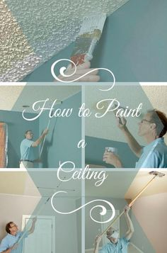 How to Paint a Ceiling: A professional home painter shares his tips for painting both smooth and textured ceilings, with equipment recommendations and tricks of the trade. http://www.familyhandyman.com/painting/tips/how-to-paint-a-ceiling