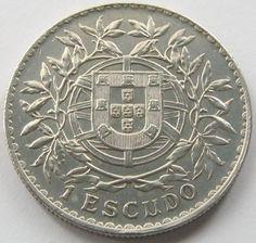 Portugal, Silver Coin, 1 Escudo 1916, TOP High Grade, AUN!