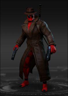 #Deadpool #Fan #Art. (Deadpool Detective Costume) By: Marvel Heroes. ÅWESOMENESS!!!™ ÅÅÅ+