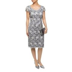new Jacques Vert 3 Colour Lace Dress- £200. this is a beautiful lace dress with scoop neck and back. it is well shaped to flatter.  at Debenhams.com