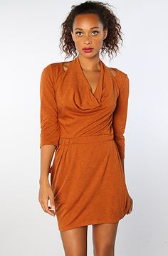 The Tennessee Cowlneck Dress in Rust by Ladakh #MissKL #WinYourPin