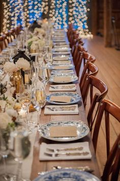 Elegant intimate indoor wedding reception; Featured Photographer: Brea McDonald Photography