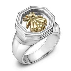 SLANE Bee Mixed Metal Ring, Small