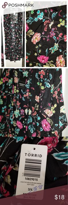 0c2cff4eb83839 Maxi beach cover-up NWT Open front Short sleeves Semi Sheer Awesome  stretchy fabric! Size Can wear with anything