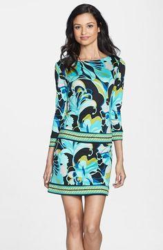 Trina Turk 'Emmet' Print Silk Shift Dress on Vein - getVein.com/download