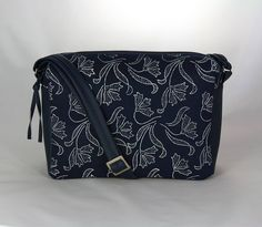 Kabelky - kabelka Rebeka modrá + modrotlač 2