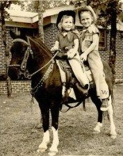 """Umpqua sends us a link to a Flickr group of """"old photos of children either dressed up as cowboys or indians and/or on ponies. Lots of cute children and very tired looking ponies."""" God, …"""