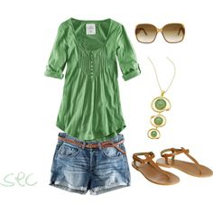 More green, created by coombsie24 on Polyvore