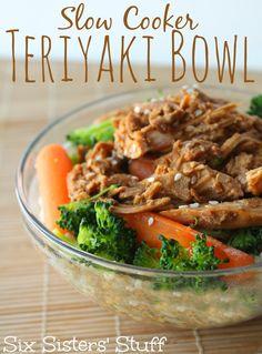 Slow Cooker Teriyaki Bowl from Six Sisters' Stuff