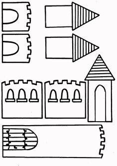 Castle Crafts, Fairy Tale Activities, Medieval, Château Fort, Readers Workshop, In Kindergarten, Preschool Crafts, Art For Kids, Coloring Pages