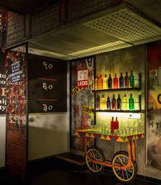 India Art n Design features Bombay Bronx by Shabnam Gupta of The Orange Lane Restaurant Indian, Restaurant Themes, Bistro Design, Cafe Design, Interior Design Themes, Restaurant Interior Design, Indian Interiors, Shop Interiors, Indian Cafe