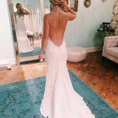 our beautiful bride in Nashville trying on a Katie May gown! #katiemay
