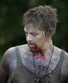 Daryl Dixon. Why does he look like a zombie here? Not cool.: best looking zombie I've ever seen