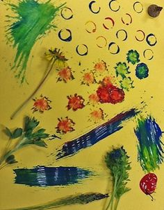 Painting with Nature.  An Activity for Preschoolers: Find and use interesting natural items to paint a picture!