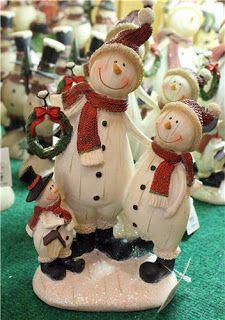 Snowmen at Bronner's Christmas store