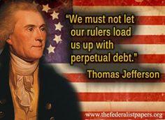 Thomas Jefferson Quote - Perpetual Debt