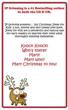 Christmas Jokes Free Christmas Jokes For Kids, Funny Christmas Jokes, Christmas Humor, Cheesy Jokes, Thing 1, Early Readers, Knock Knock, Bestselling Author, Books