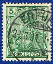 Germany 54 Stamp - Germania Stamp - EU GER 54-6 USED