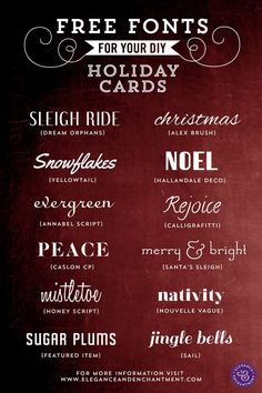 Free Fonts for DIY Holiday Cards | Elegance & Enchantment