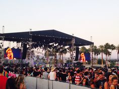 ALABAMA SHAKES plays COACHELLA in Indio, CA, Friday, April 17, 2015. View from the beer garden (iPhone).