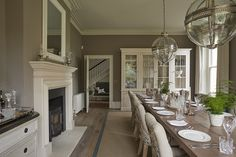 Sims Hilditch Malvern Family Home Country Interior Design 14 Sims Hilditch Malvern Family Home Country Innenarchitektur 14 English Country House, Elegant Interior Design, Country Decor, Luxury Dining, Elegant Interiors, Luxury Dining Room, Formal Dining Room, Country House Interior, Country House Decor