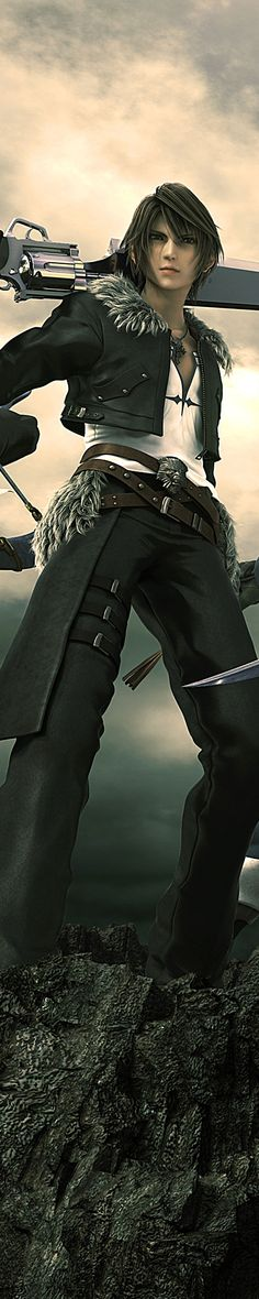 I like the way This characters blade has a built in revolver at the base and its a long sword so would do tunes of damage