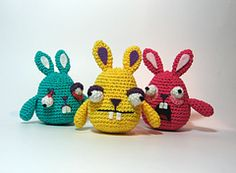 Ravelry: Freaky Easter Bunnies pattern by Julie Monsterinside