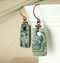 Polymer Clay Earrings featuring Green by WiredOrchidJewelry, $25.00