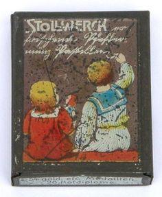 Stollwerck miniature tin of peppermint pastilles