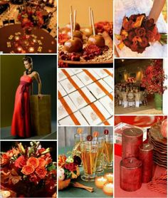 Fall Wedding Ideas with Apple Cider and caramel apple.