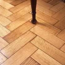 Hallway reclaimed oak parquet