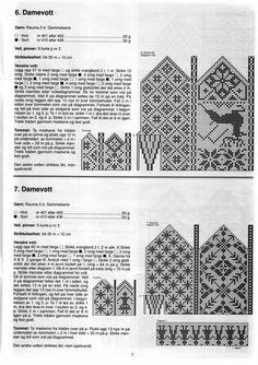 "Photo from album ""Selbustrikk on Yandex. Crochet Mittens Free Pattern, Knit Mittens, Knitted Gloves, Knitting Charts, Knitting Stitches, Knitting Patterns, Fair Isle Chart, Fair Isles, Chart Design"