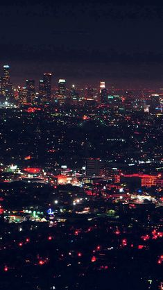 City View Night Light Red #iPhone #5s #wallpaper