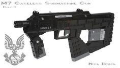 Halo 3 M7 Caseless Submachine Gun V2: A LEGO® creation by Nick Brick #LEGO