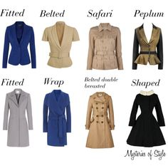 Jackets and coats for neat hourglass body shape by janinespb on Polyvore featuring Joseph, Yves Saint Laurent, Orla Kiely, Reiss, Armani Jeans and Alexander McQueen