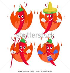 Chili pepper cartoon  fun, red, hot, thai, icon, stem, face, fire, heat, food, chile, thumb, spice, green, white, comic, smile, funny, flame, humor, chili, spicy, happy, pepper, symbol, mascot, mexican, cayenne, drawing, gesture, cartoon, burning, isolated, habanero, sombrero, jalapeno, clip-art, character, vegetable, vegetarian, collection, ingredient, illustration