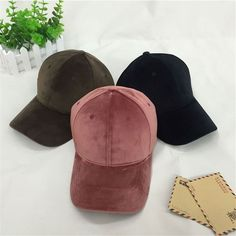 Men Women Autumn Winter Suede Baseball Cap Visor Sport Sun Adjustable Hat