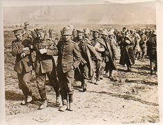 German wounded prisoners, the Somme, 1916. WWI photo. Gritty.