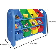 check out httpwwwtoybinorganizerorg for getting the best prices - Tot Tutors Book Rack Primary Colors