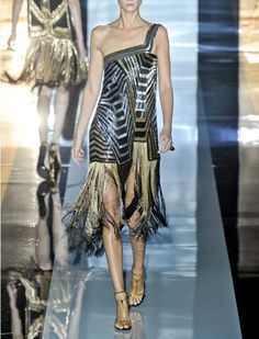 Gucci black & gold fringe dress...for the bridesmaid or the brides reception dress...